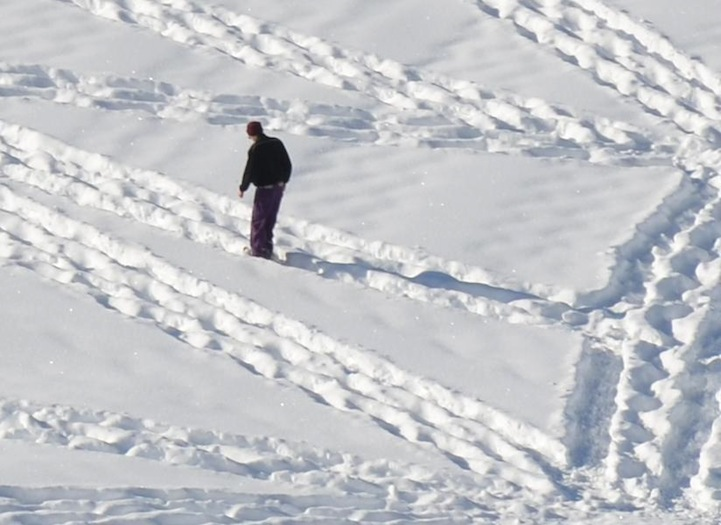 It Looks Like Some Drunk Guy Walking In Circles In The Snow. But Just Wait Until You Zoom Out.