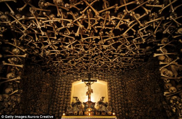 The Inside Of This Creepy Bone Chapel Is Absolutely Terrifying
