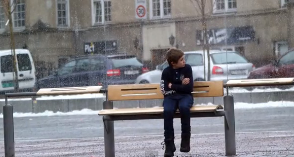 This Child Was Left Alone In The Freezing Cold. Then Something Very Unexpected Happened.