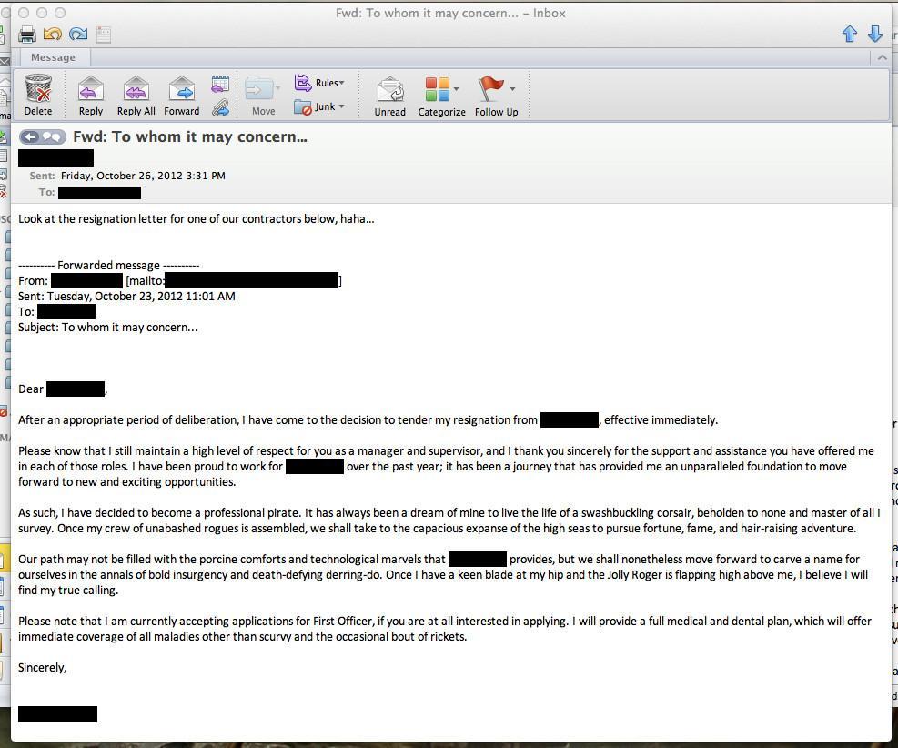 Quit Job Email Ways to Quit Your Job