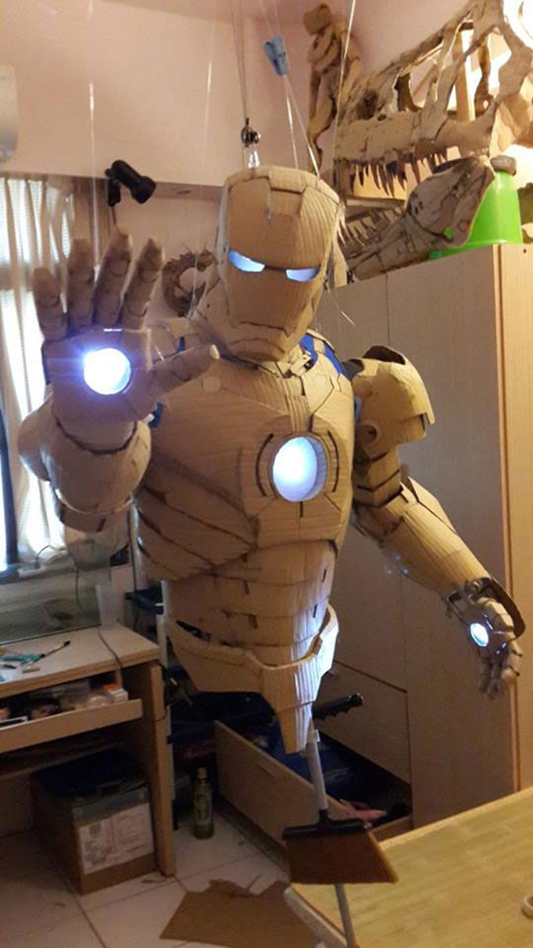This Guy Started With Just Cardboard And Lights. One Year Later, He Built This And It's AMAZING.