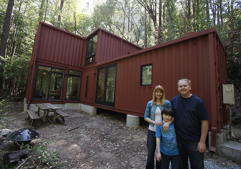 They bought a shipping container for 2000 they turned it Containers turned into homes