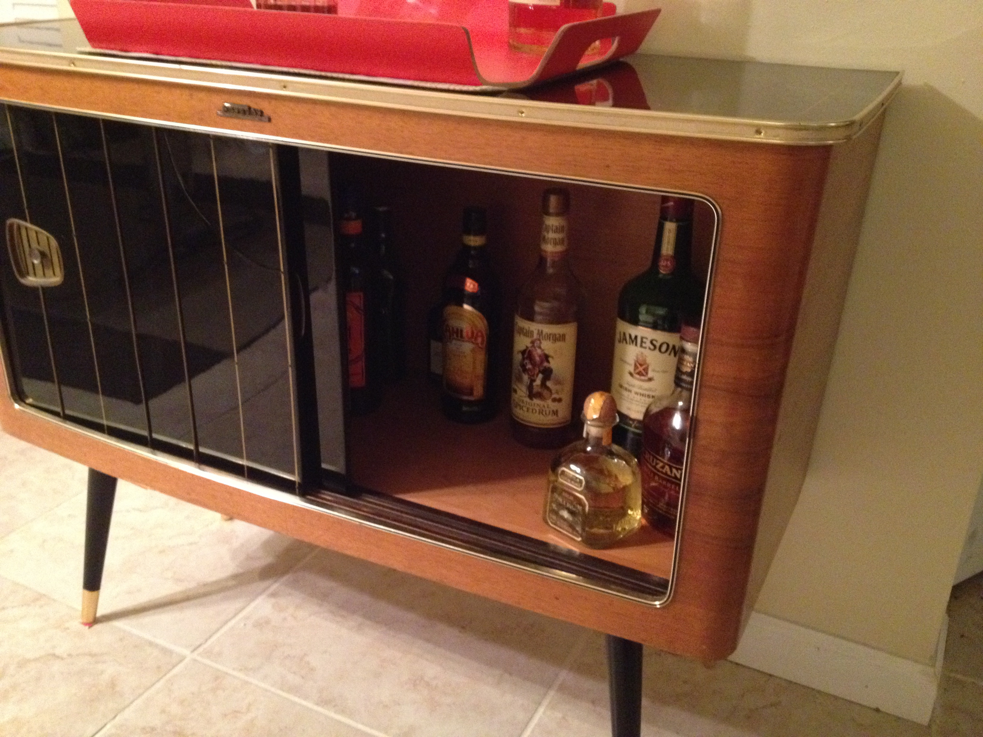 this guys old radio cabinet just stopped working so he turned it into something brilliant