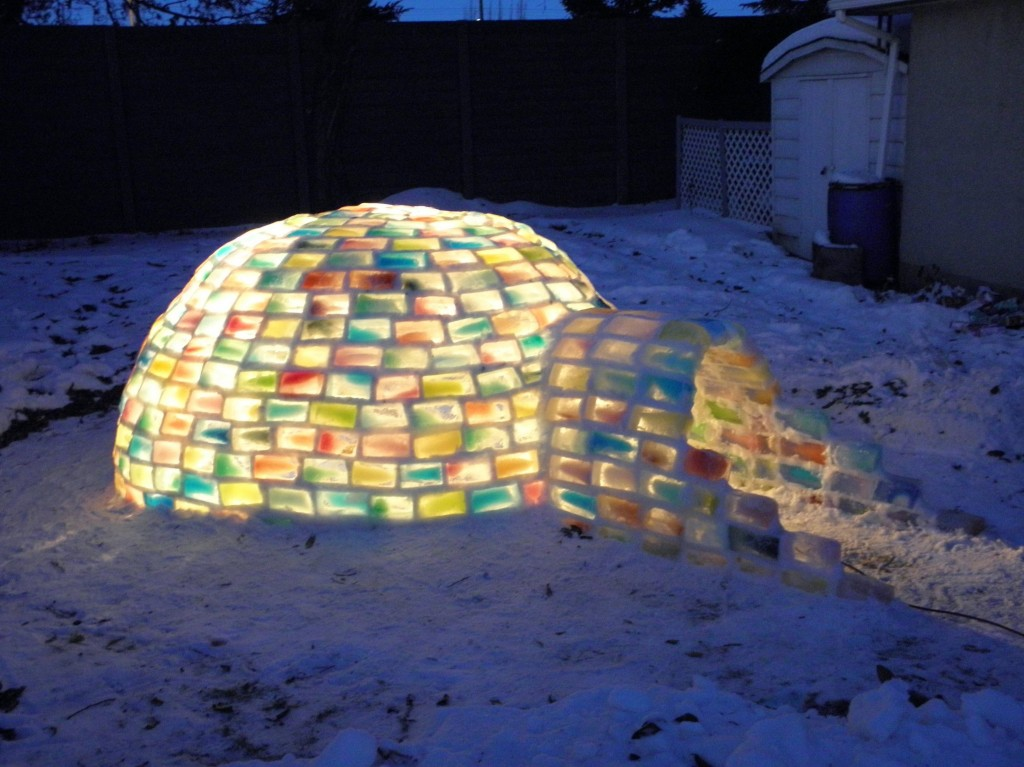 Couple Builds Incredible Igloo In Backyard