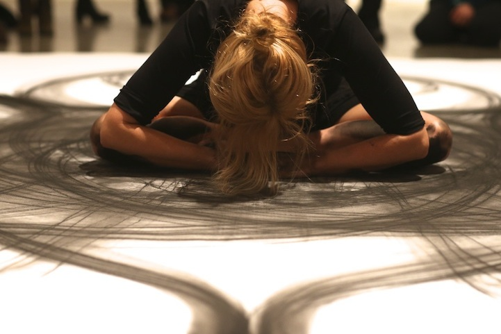 This Woman Rolls Around In Charcoal To Create Art