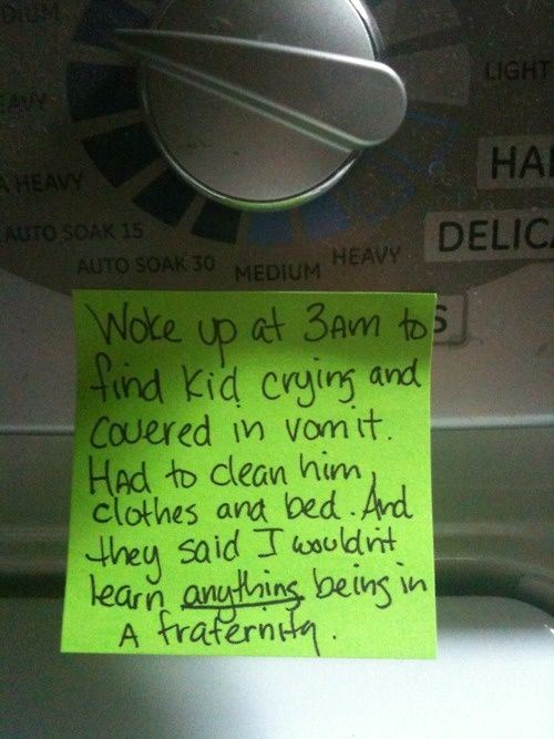 This Dad Documents Raising His Son With Hilarious Post-It Notes For His Wife