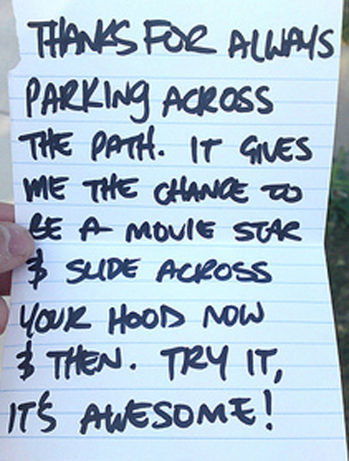 25 Most Hilarious Notes Left On Windshields. These Will Make You Crack Up.