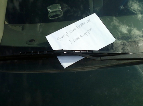 25 Hilarious Windshield Notes Reminding People To Be Polite