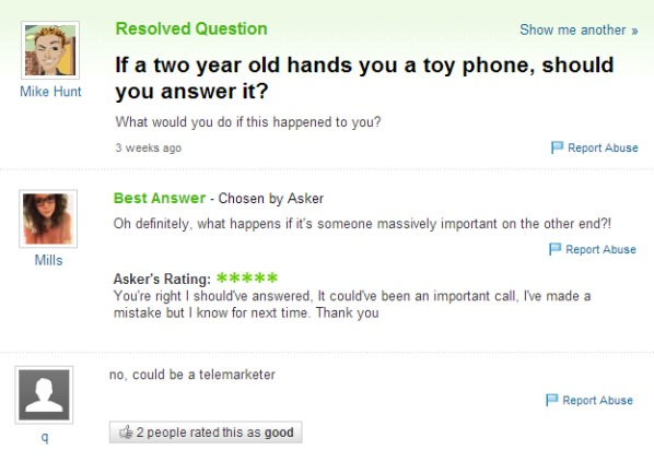 Dumbest Questions Ever Asked Online - 27 hilarious yahoo questions
