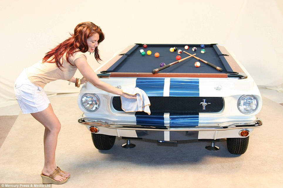 I Couldnt Figure Out Why Anyone Would Cut A Car In Half Then I Saw - Car pool table